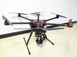 DJI S900 + フライトコントローラーA2 + ZenmuseZ15(GH4)展示機